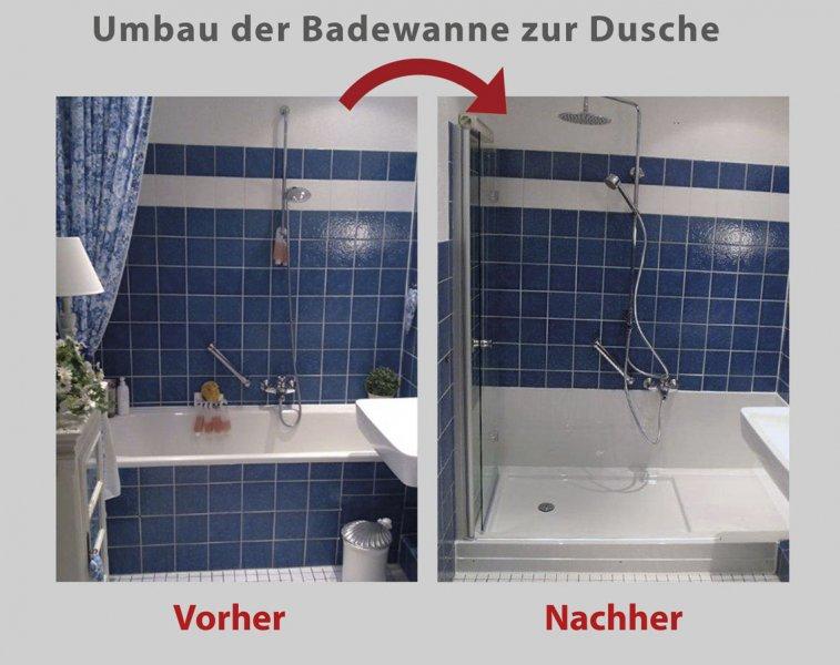 Badewanne Duschen wanne zur dusche in 8 stunden badbarrierefrei hamburg