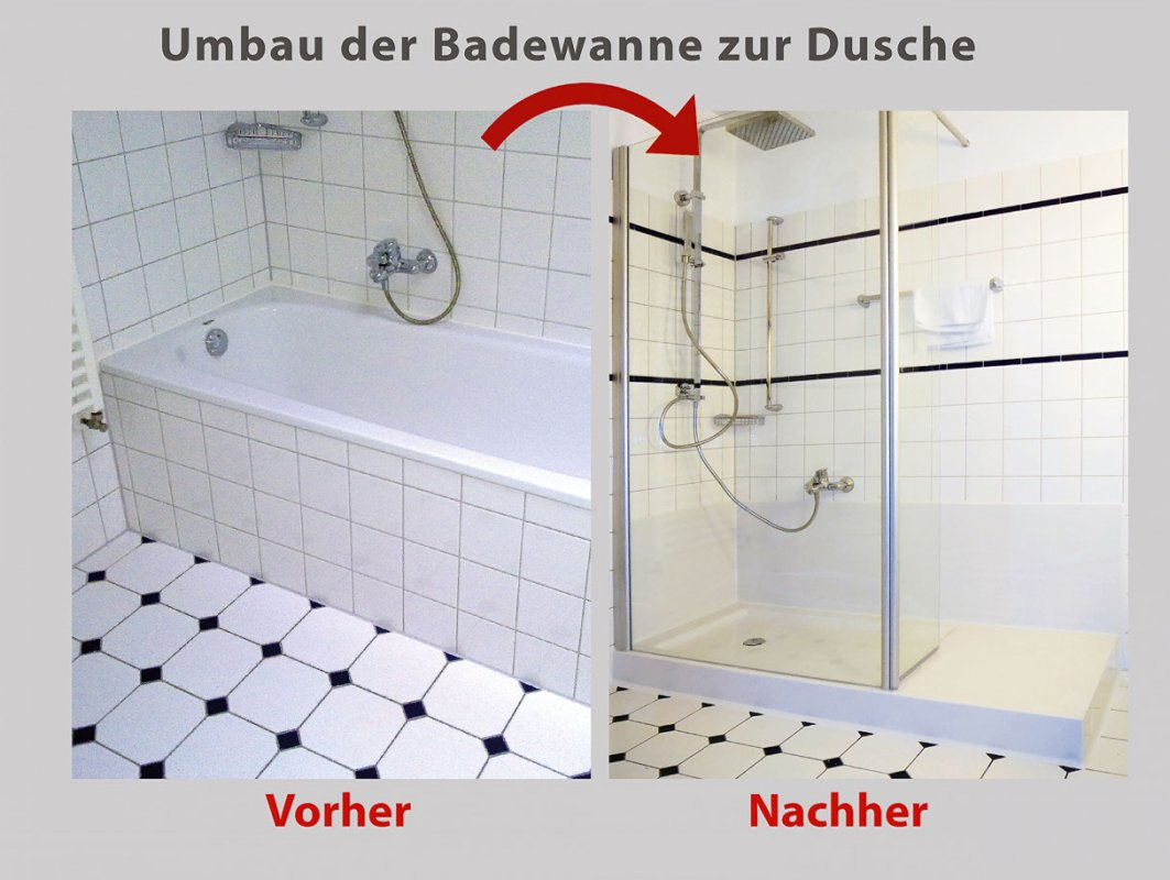 wanne zur dusche in 8 stunden badbarrierefrei hamburg. Black Bedroom Furniture Sets. Home Design Ideas